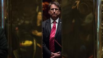 NEW YORK, NY - DECEMBER 7: North Carolina Republican Gov. Pat McCrory boards an elevator at Trump Tower in New York, NY on Wednesday, Dec. 07, 2016. (Photo by Jabin Botsford/The Washington Post via Getty Images)