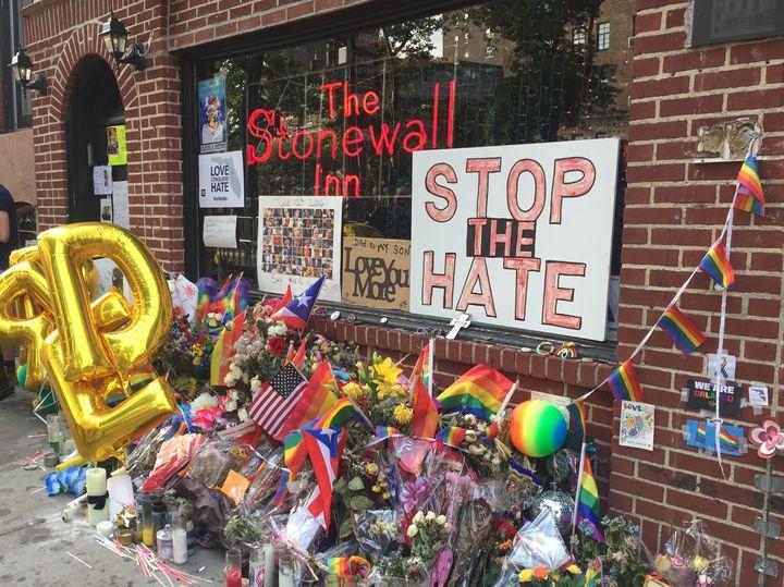 June 24, 2016. Pulse Memorial at the Stonewall Inn in New York.