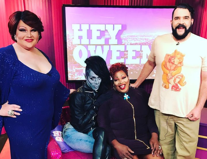 Victoria Porkchop Parker, Nina Bonina Brown, Lady Red Couture and Jonny McGovern on Hey Qween