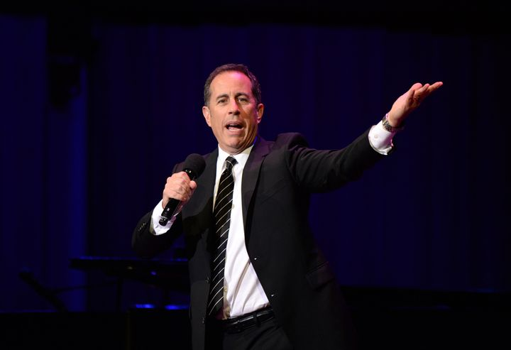 Jerry Seinfeld performs onstage at the National Night Of Laughter And Song.