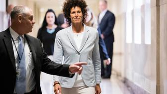 NORRISTOWN, PA - JUNE 6:  Andrea Constand walks to the courtroom for the trial of actor Bill Cosby on sexual assault charges at the Montgomery County Courthouse on June 6, 2017 in Norristown, Pennsylvania.  Constand, a former Temple University employee, alleges that the entertainer drugged and molested her in 2004 at his home in suburban Philadelphia.  More than 40 women have accused the 79-year-old entertainer of sexual assault.  (Photo by Matt Rourke-Pool/Getty Images)