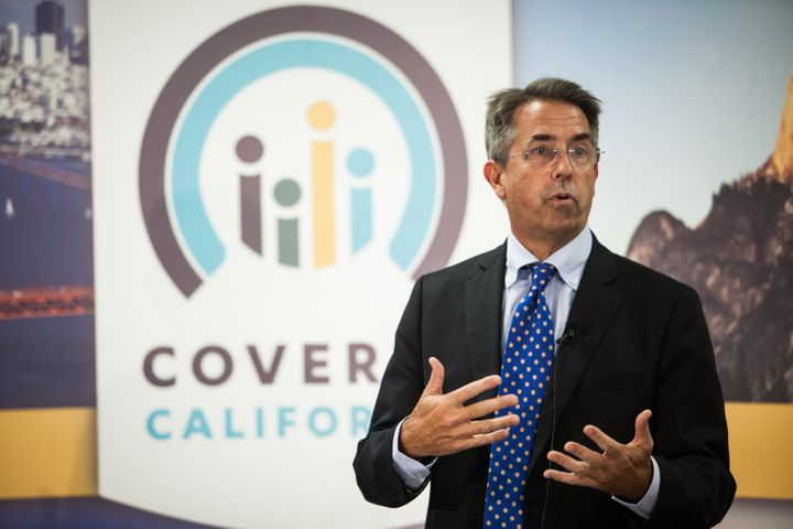 Covered California Executive Director Peter Lee speaks during a press conference in 2013. The state has done more than others