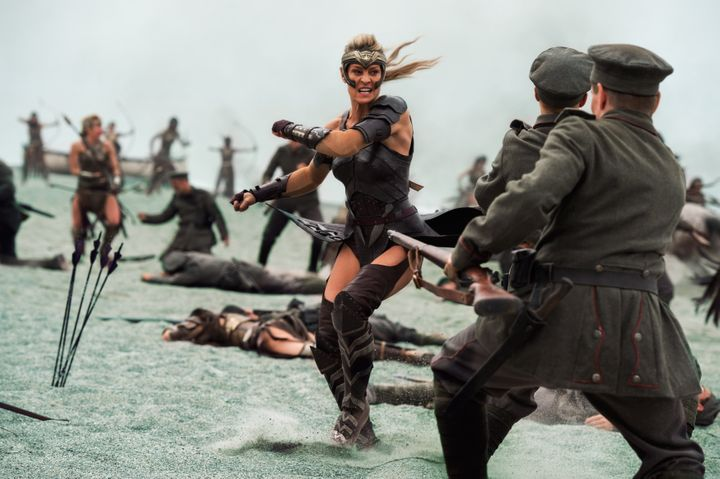 Robin Wright being the bad ass she is in Wonder Woman