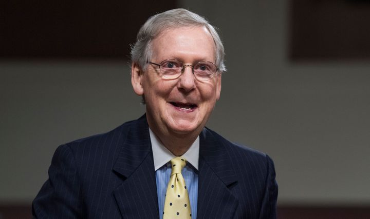 Senate Majority Leader Mitch McConnell doesn't have a bill yet, but he's optimistic.