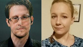 Edward Snowden left and Reality Winner