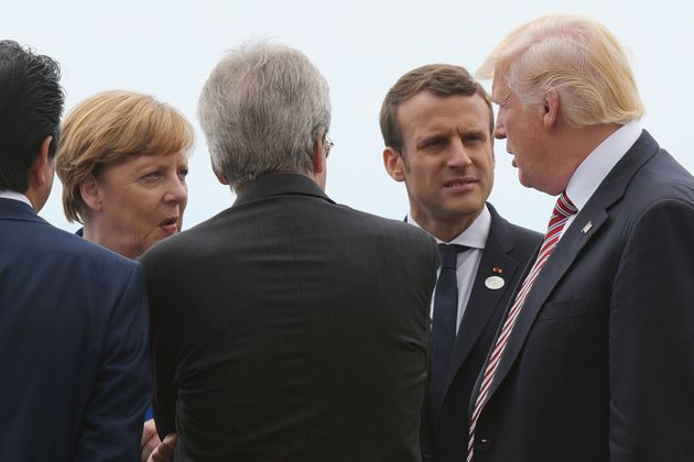 German Chancellor Angela Merkel and French President Emmanuel Macron reportedly urged Trump to reconsider...