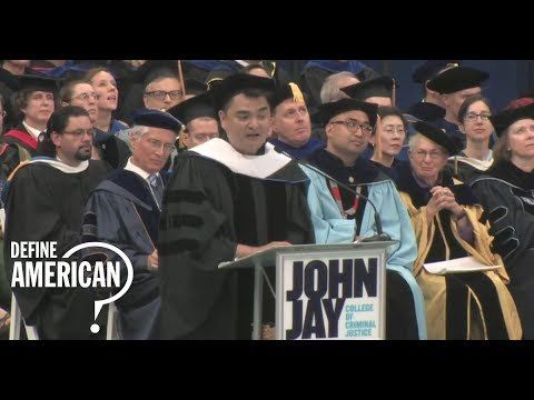 Dr. Jose Antonio Vargas receiving an honorary doctorate from the John Jay College of Criminal Justice