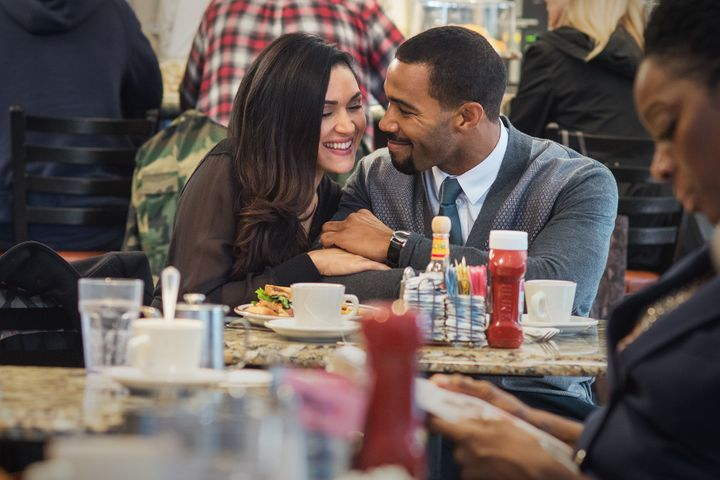 Lela Loren and Omari Hardwick in <em>Power</em> on Starz.