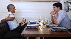 Obama Follows Speech With Dreamy Trudeau Dinner