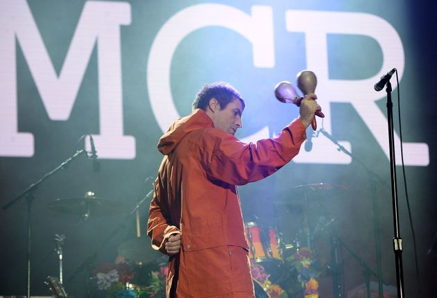 Liam Gallagher performs on stage during the One Love Manchester Benefit