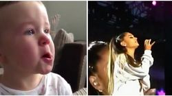 Ariana Grande comparte el adorable vídeo de un bebé llorando durante su
