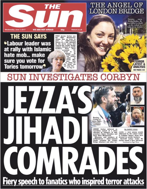 The Sun told its readers Corbyn had given a speech in 2002 to the followers of infamous hate preacher...