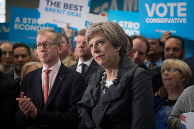 Theresa May told a rally in Slough: 'If our human rights laws stop us from doing it, we will change the...