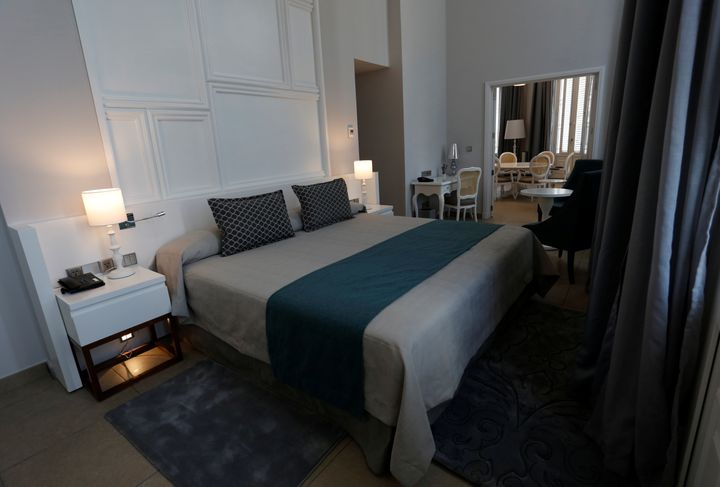 A guest room at the Gran Hotel Manzana, which will charge $360 for a double room in low-season.