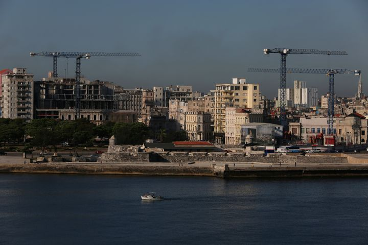 Cranes dot the Havana skyline in May as the building of luxury hotels and the renovation of historic buildings are underway.