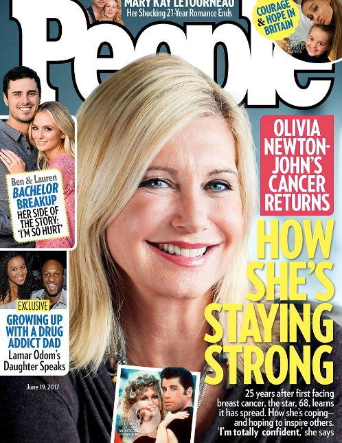 Olivia Newton-John Is 'Totally Confident' She'll Beat Breast Cancer