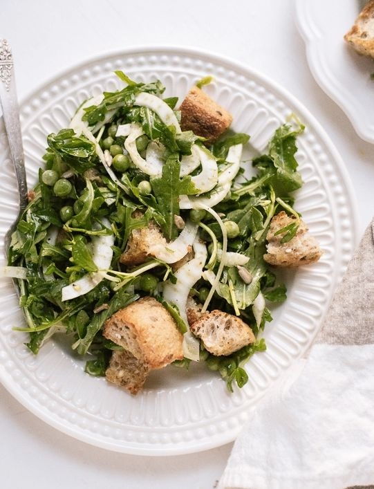 """<strong>Get the <a href=""""http://cookieandkate.com/2015/spring-panzanella-recipe/"""" target=""""_blank"""">Spring Panzanella with Fres"""