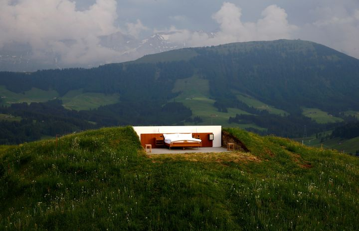 It's located at an altitude of 3,937 feet in the eastern Swiss Alps.