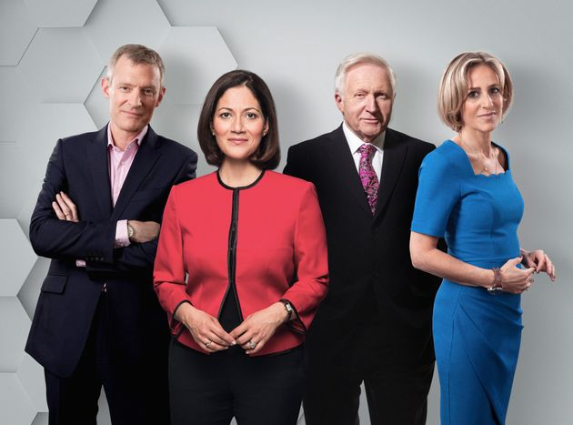 Jeremy Vine, Mishal Husain, David Dimbleby and Emily Maitlis will lead coverage for the