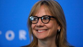 DETROIT, MI-JUNE 6:  General Motors Chairperson and CEO Mary Barra speaks to the news media at the company's annual meeting of shareholders  June 6, 2017 in Detroit, Michigan. The results of a fight between the company and hedge fund Greenlight Capital, which has proposed to split the automaker's stock and change its board of directors, was to be announced.  (Photo by Bill Pugliano/Getty Images)