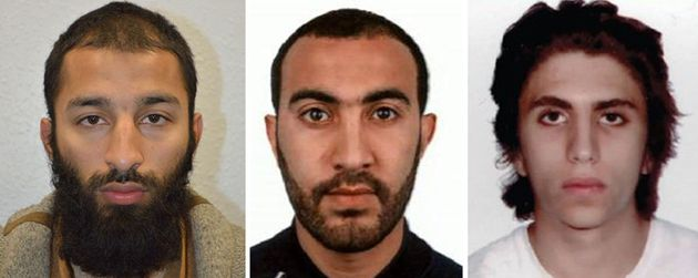 L-R: The London Bridge attackers Shazad Butt, Rachid Redouane and Youssef Zaghba. One human rights...