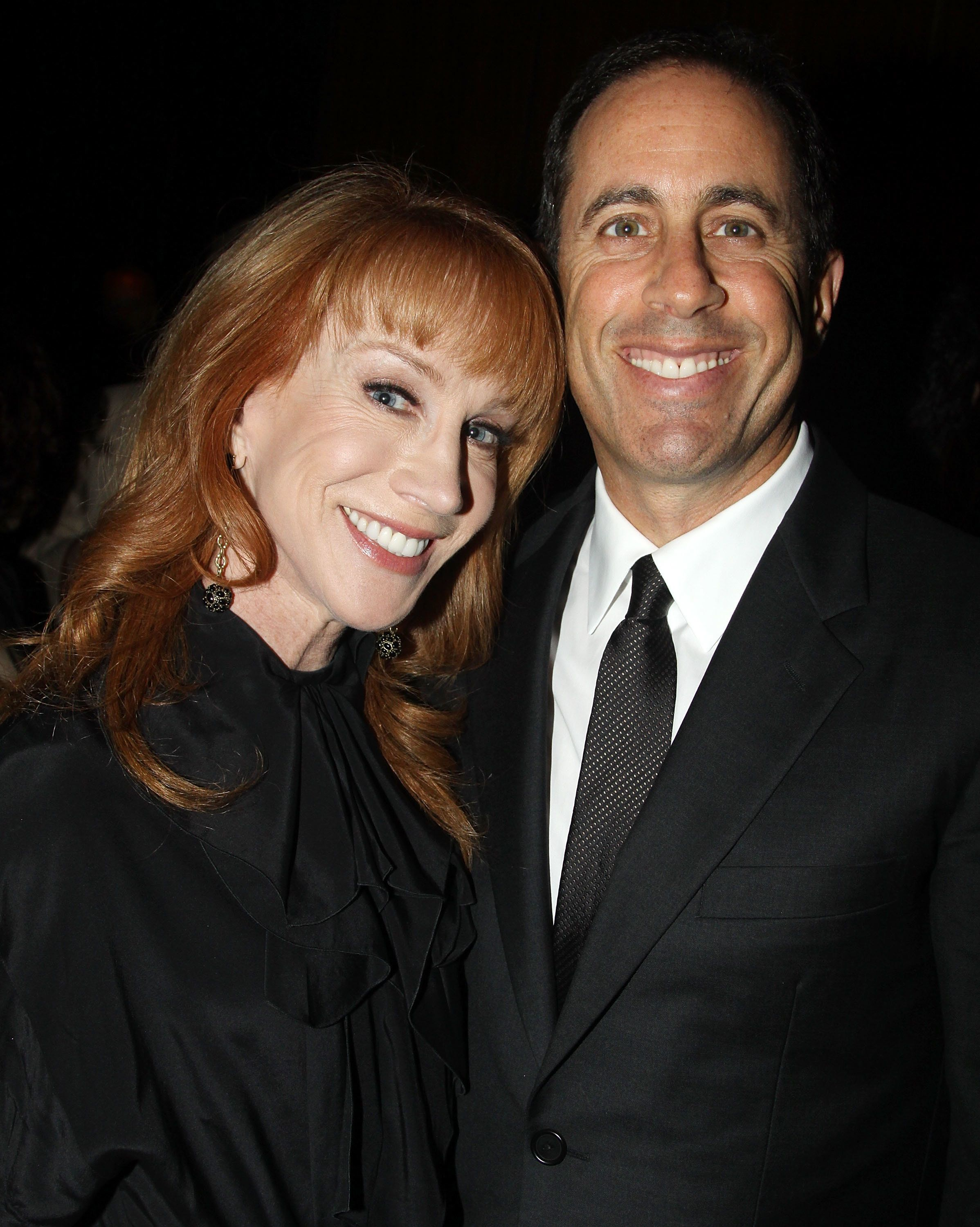 NEW YORK - NOVEMBER 09:  Kathy Griffin and Jerry Seinfeld pose at the Opening Night After Party for 'Colin Quinn Long Story Short' on Broadway at Forty Four at the Royalton on November 9, 2010 in New York City.  (Photo by Bruce Glikas/FilmMagic)
