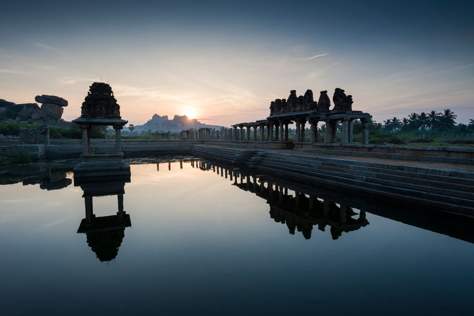 """Time seemed to stand still,"" said Pedersen of an experience in an Indian temple town where he first felt a bond with I"