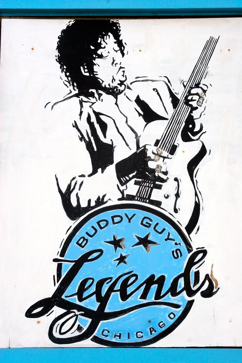 The sign outside of Buddy Guy's Legends
