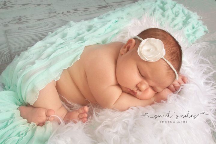 "The newborn photographer called her ""so gorgeous and squishy!"""