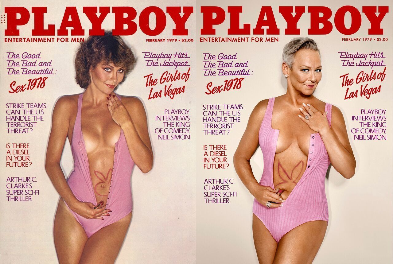 """Collins Jordan <a href=""""http://www.playboy.com/articles/playmates-re-enact-their-iconic-covers"""" target=""""_blank"""">told the magazine she feels</a>""""very, very lucky to be in such a unique sorority"""" as a Playmate."""
