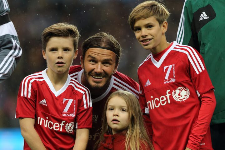 David and Victoria Beckham have four children.