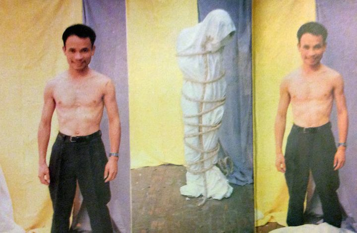 Truong Tan's catalogue for his first solo exhibition in 1994 documents his tentative exploration of performance art and frequ