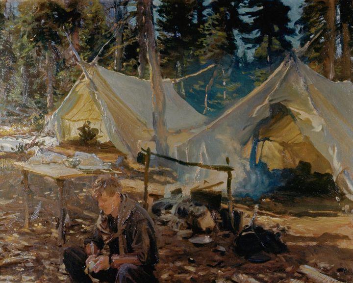 """""""Tents at Lake O'Hara"""" by John Singer Sargent."""