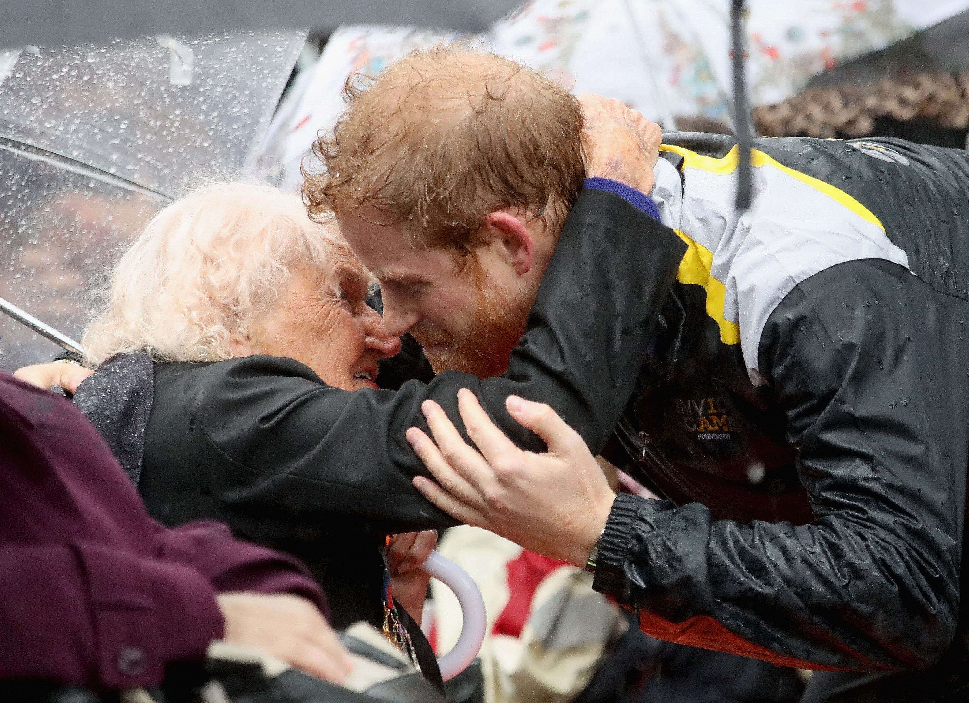 Prince Harry Kissed A 97-Year-Old Widow And We're