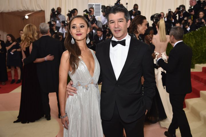 Kalanick and his former girlfriend Gabi Hozwarth last year.
