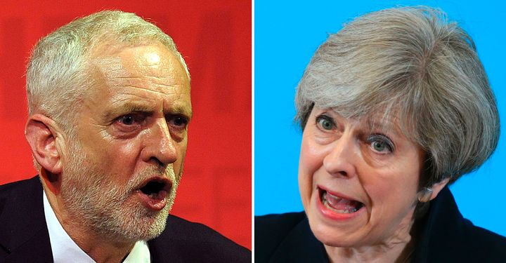 British Prime Minister Theresa May faces off against Labour leader Jeremy Corbyn in Thursday's snap election.