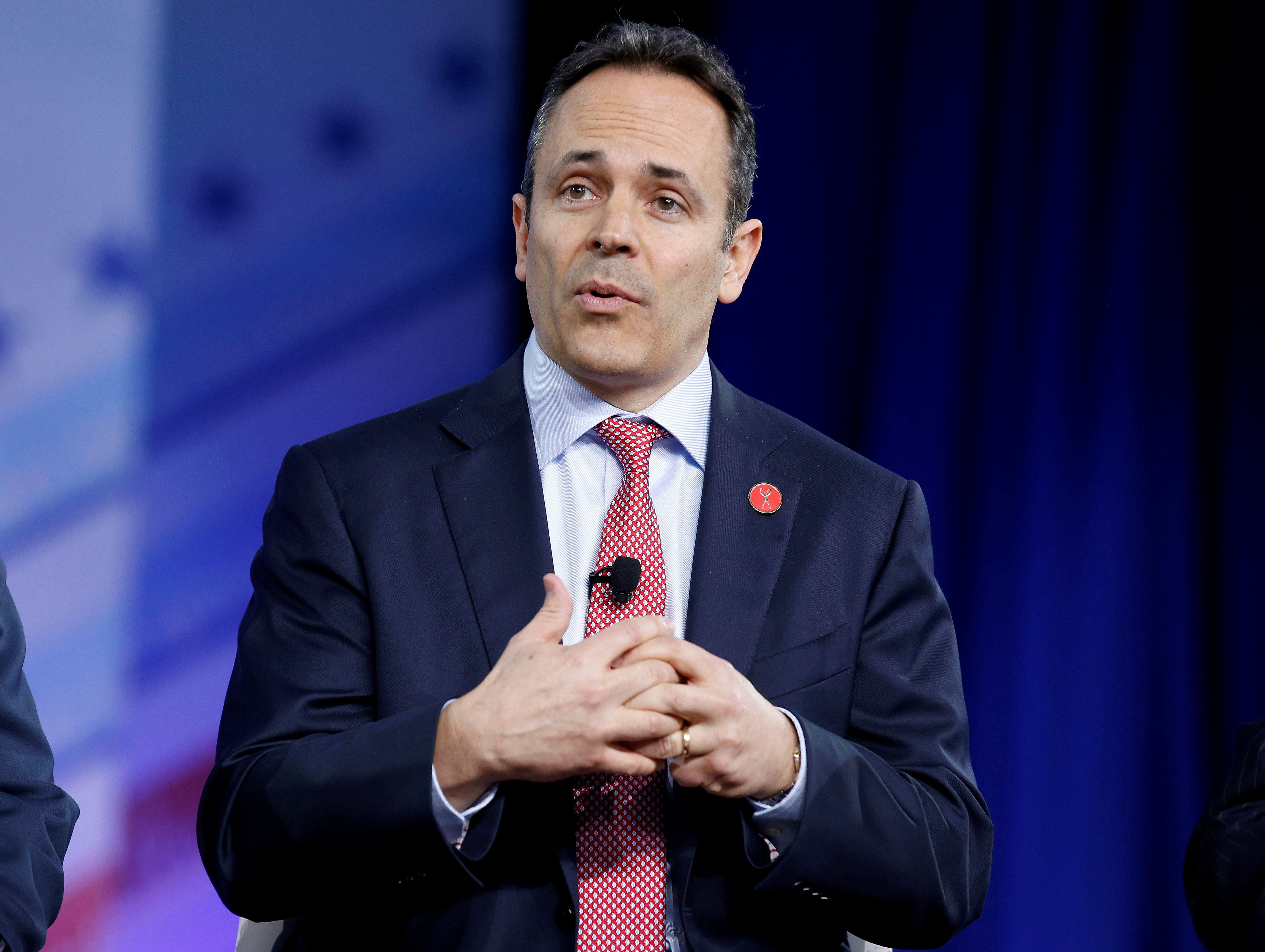 Republican Governor Matt Bevin of Kentucky speaks during the Conservative Political Action Conference (CPAC) in National Harbor, Maryland, U.S., February 23, 2017.      REUTERS/Joshua Roberts