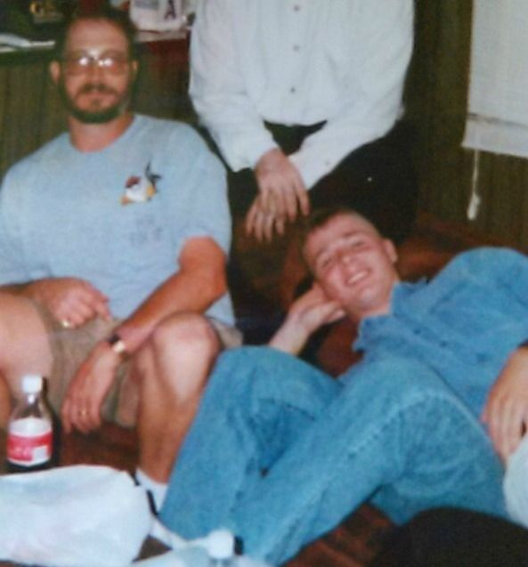 Sam Linton, left, has been a badly needed father figure for Dennis Kelly,right.