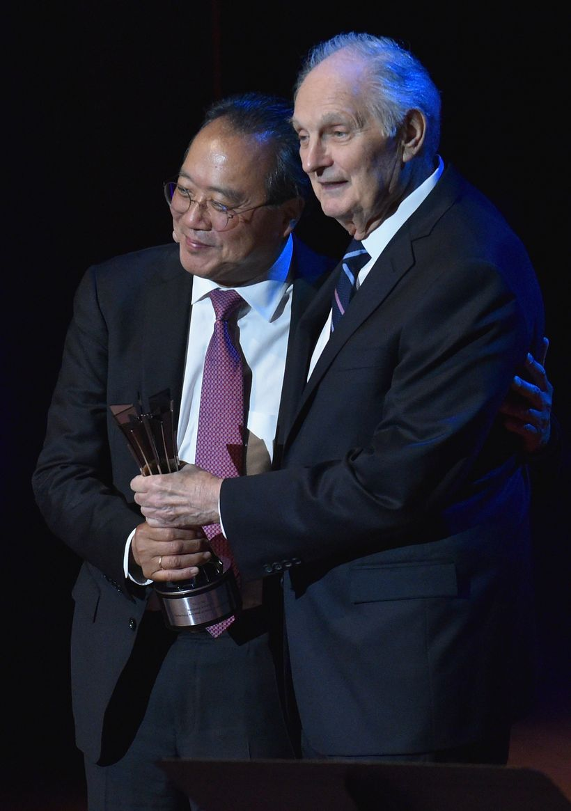 Yo-Yo Ma and Alan Alda