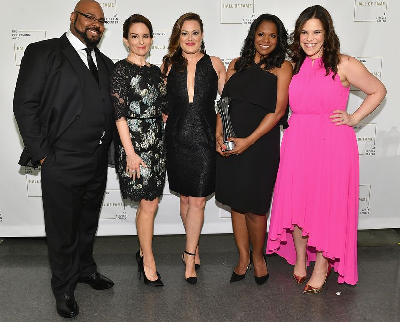 James Monroe Inglehart, Tina Fey, Ashley Brown, Audra McDonald and Lindsay Mendez
