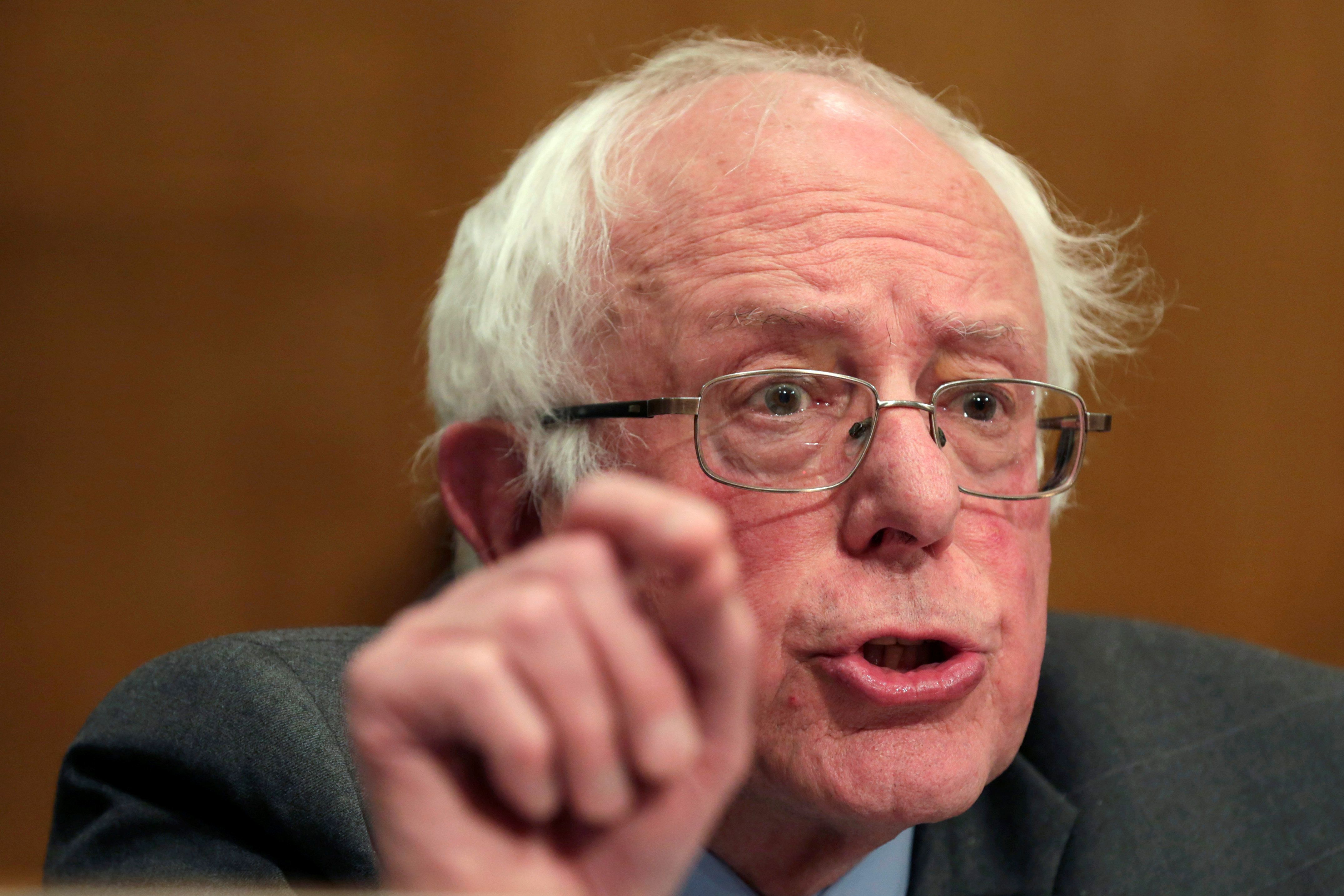 Sen. Bernie Sanders (I-Vt.) questioned statements about Muslims made by Russell Vought, President Donald Trump's top pick for
