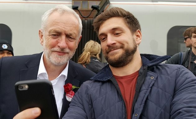 Jeremy Corbyn and junior doctor Zak