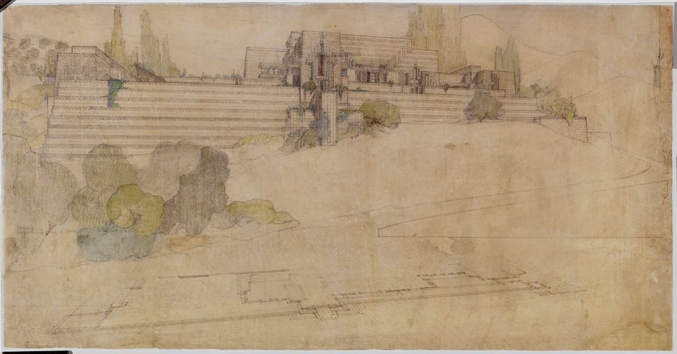 Frank Lloyd Wright's Ennis House in Los Angeles, California (1924–25).