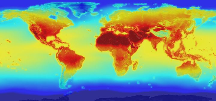 Mapping rising temperatures caused by burning fossil fuels.