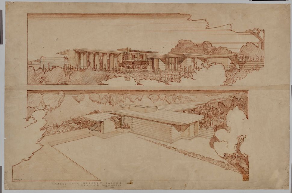 Frank Lloyd Wright's Jacobs House in Madison, Wisconsin (1936–37).