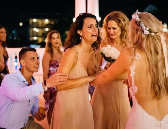 Bride Teams Up With Best Friend's Boyfriend To Help Him Propose On Her Wedding