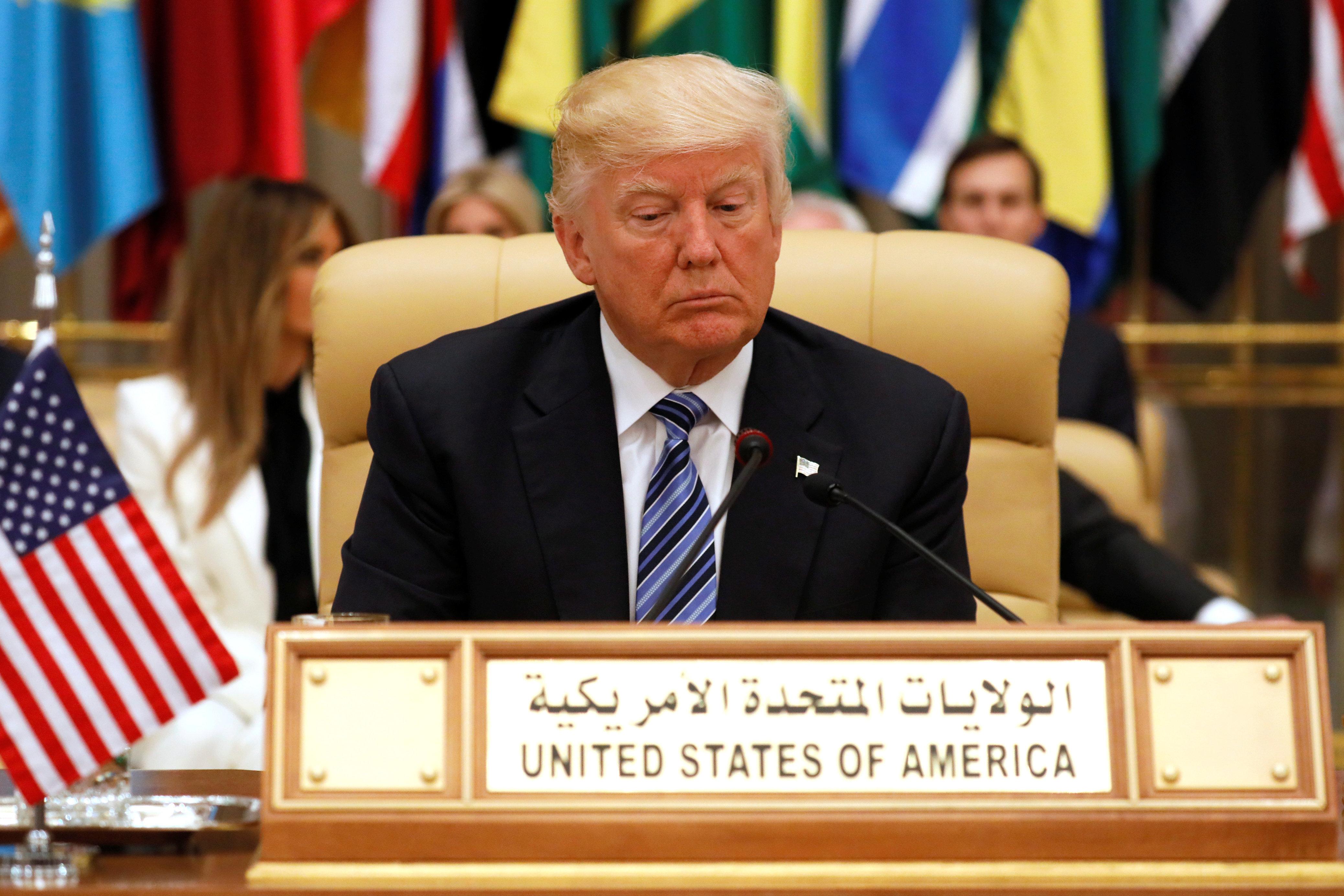 While in Riyadh, Trump endorsed the Saudi line, makingIran the focus of his anti-terrorism rhetoric.