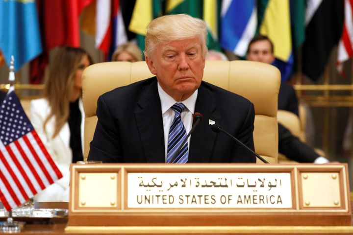 While in Riyadh, Trump endorsed the Saudi line, making Iran the focus of his anti-terrorism rhetoric.