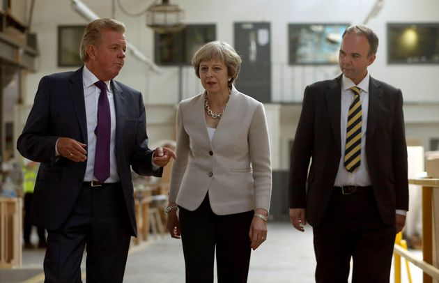 Gavin Barwell (right) with Theresa May on a campaign visit in Croydon