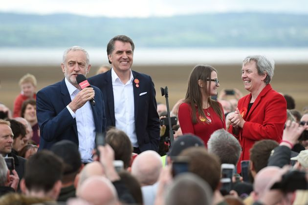 Jeremy Corbyn held a campaign rally on the beach in Wirral